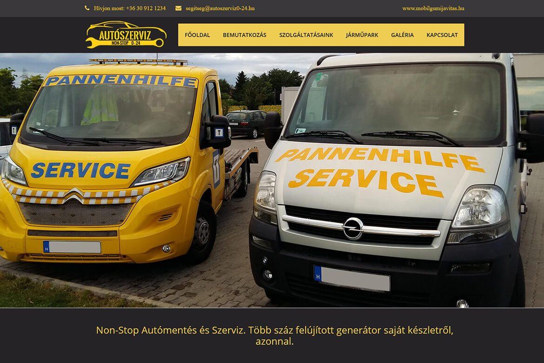 autoszerviz 0-24 - Profi WebDesign