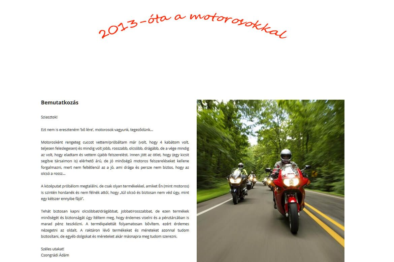 Motorcuccok - Profi WebDesign