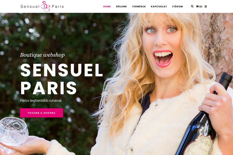 Sensuel Paris - Az életérzés - Profi WebDesign