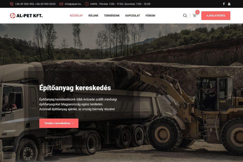 Al-Pet Kft. - Építőanyag kereskedés - Profi WebDesign