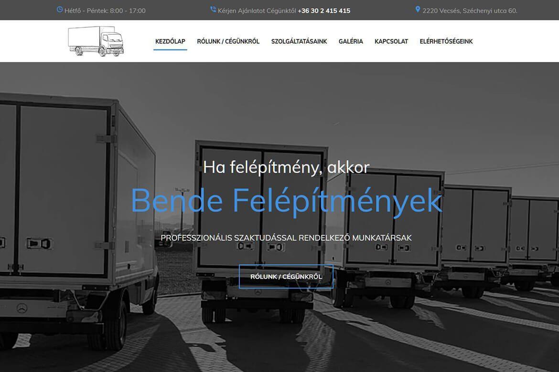 Bende Felépítmányek - Profi WebDesign